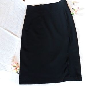 Forever 21 below the knee black skirt with slit up